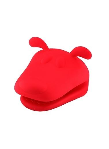 Silikon Kırmızı Köpek Şekilli Fırın Eldiveni-Tantitoni